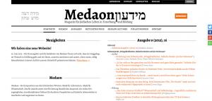 Die Medaon-Website in neuem Gewand.