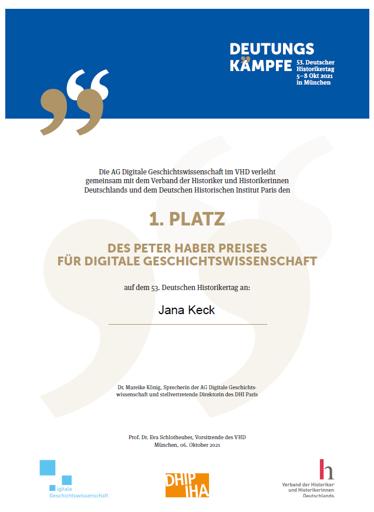 Peter Haber Preis für digitale Geschichte 2021: And the winner is…